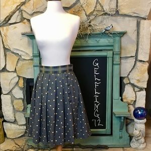 Plenty by Tracy Reese Grey Polka Dot Skirt